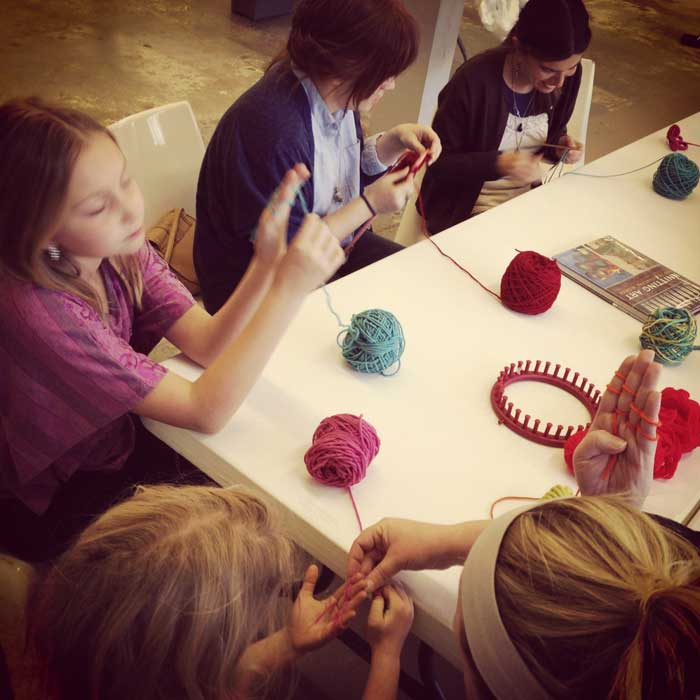 Yarn Bombing meetings at the ideaXfactory