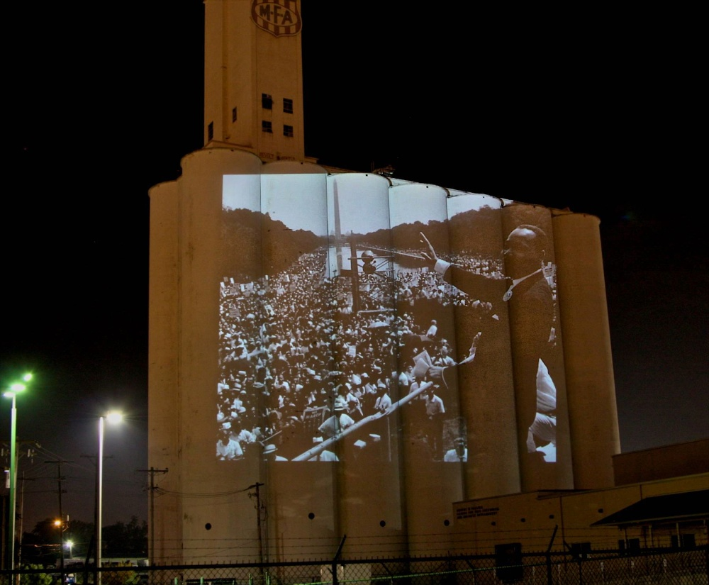 Russ RuBert - MLK projections on silo