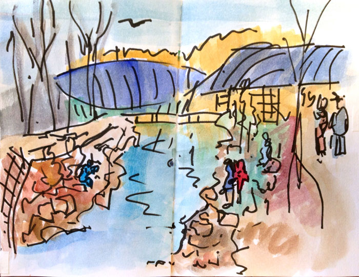More Sketching at Crystal Bridges